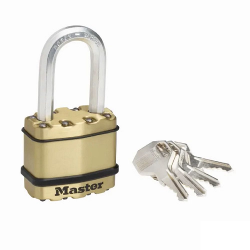 Master Lock M1BEURDLF Excell Brass Finish 45mm Padlock - 38mm Shackle